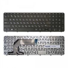 Клавиатура для ноутбука HP 17-e series, RU, рамка, черная