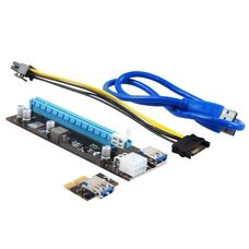 Адаптер-райзер PCI-E x1 to 16x купить по низкой цене за 4 000   тнг.