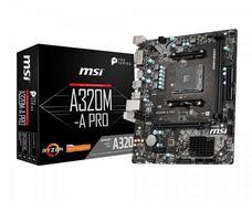 MSI A320M-A PRO Socket-AM4 AMD A320 DDR4 mATX материнская плата купить по низкой цене за 23 055 тнг.