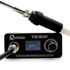 Паяльная станция QUICKO T12-942 OLED на жалах Hakko T12 без БП за 11 880 тнг.