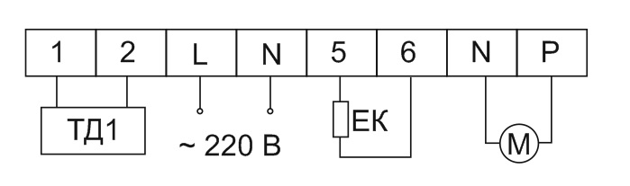 Схема подключения вентилятора на 220 В